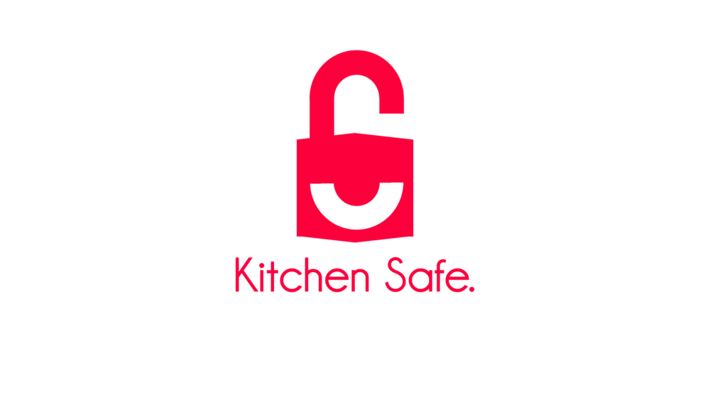 it took 1 week to create the advert for kitchen safe which uses the wording to emphasize what is being spoken by the narrator and utilizes only the colors - Kitchen Safe