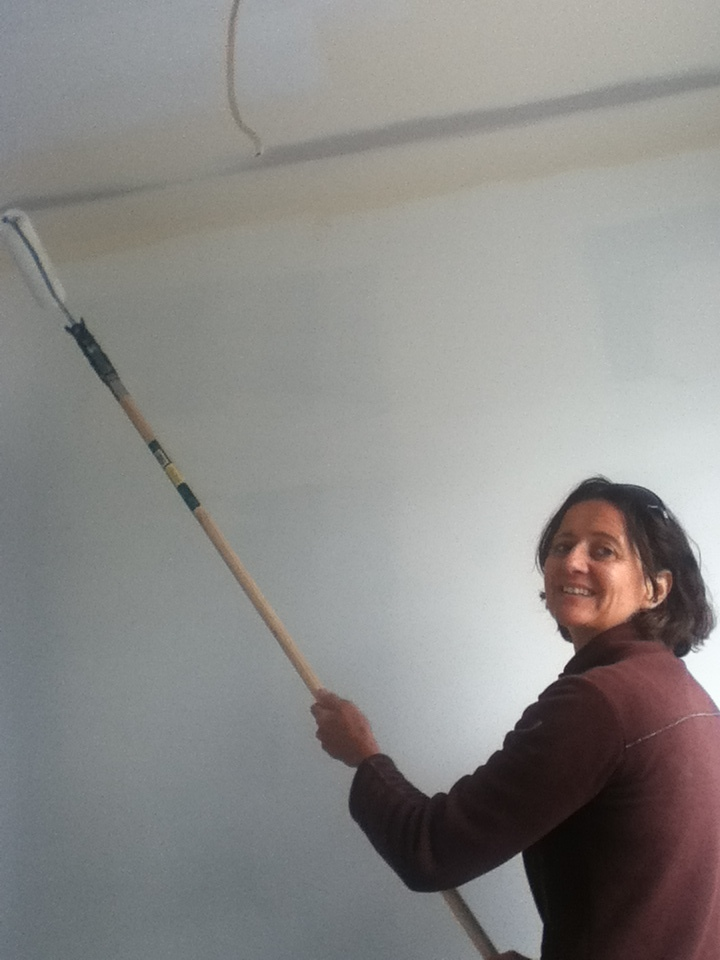 Aude painting at our working bee - thanks everyone for your help!
