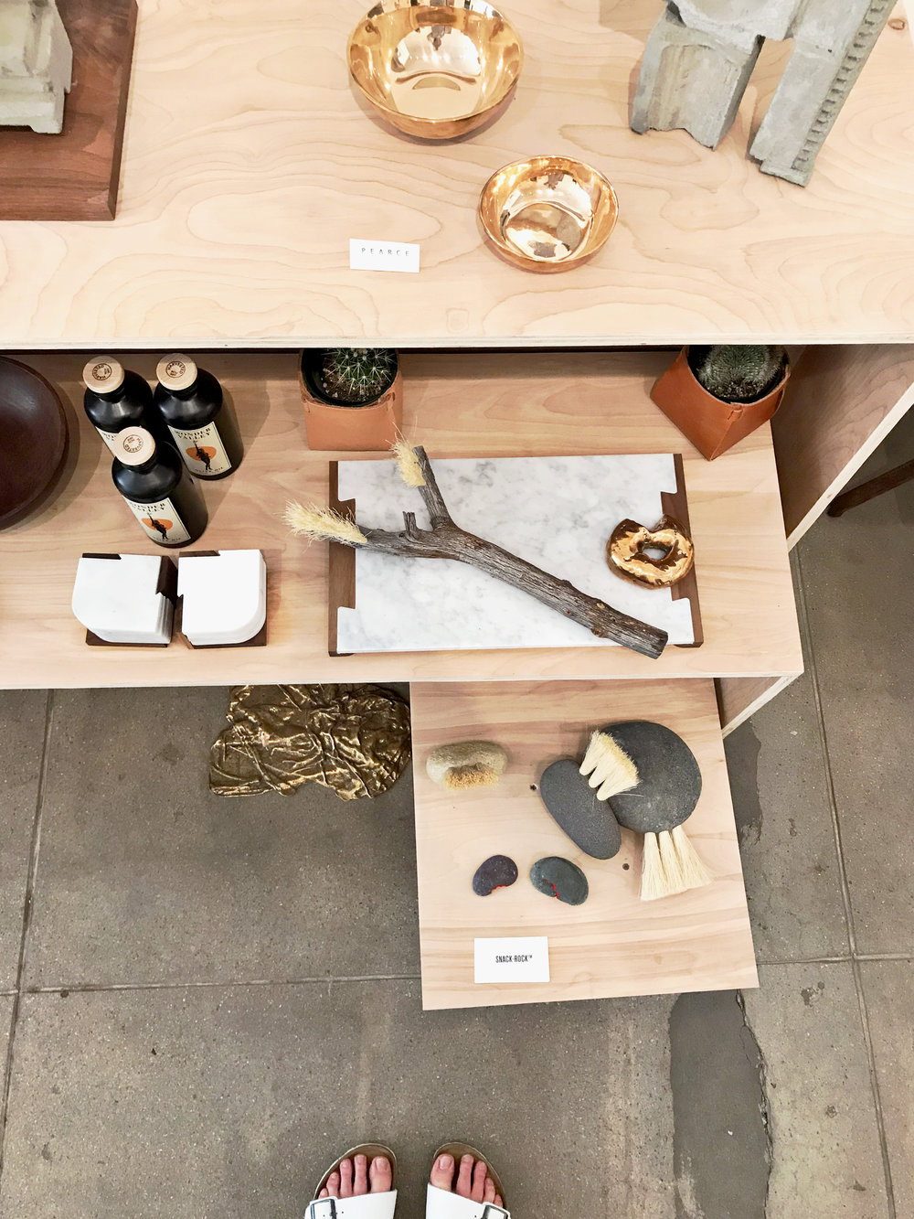 cool stuff on display at gallery-shop BKB Design on Palm Canyon Drive.