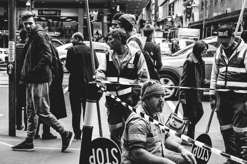 Street photography, Swanston Street, Melbourne