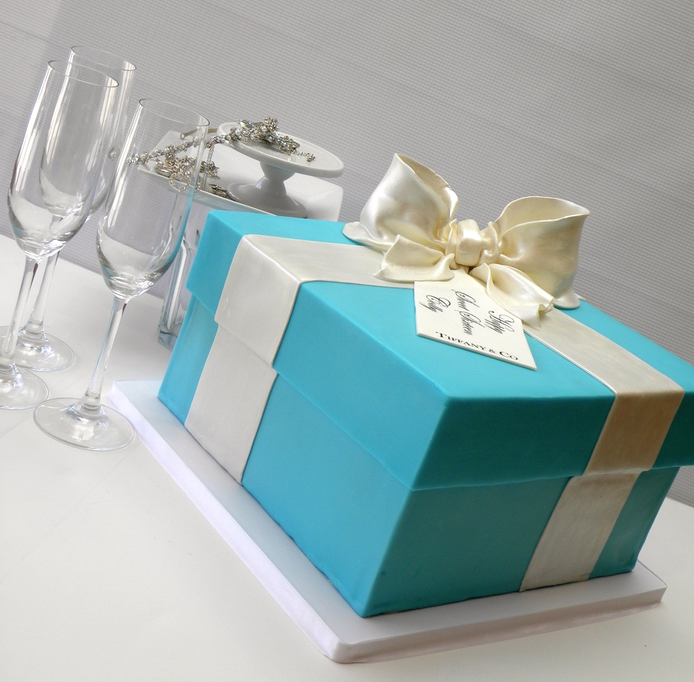 Tiffany Box Cake