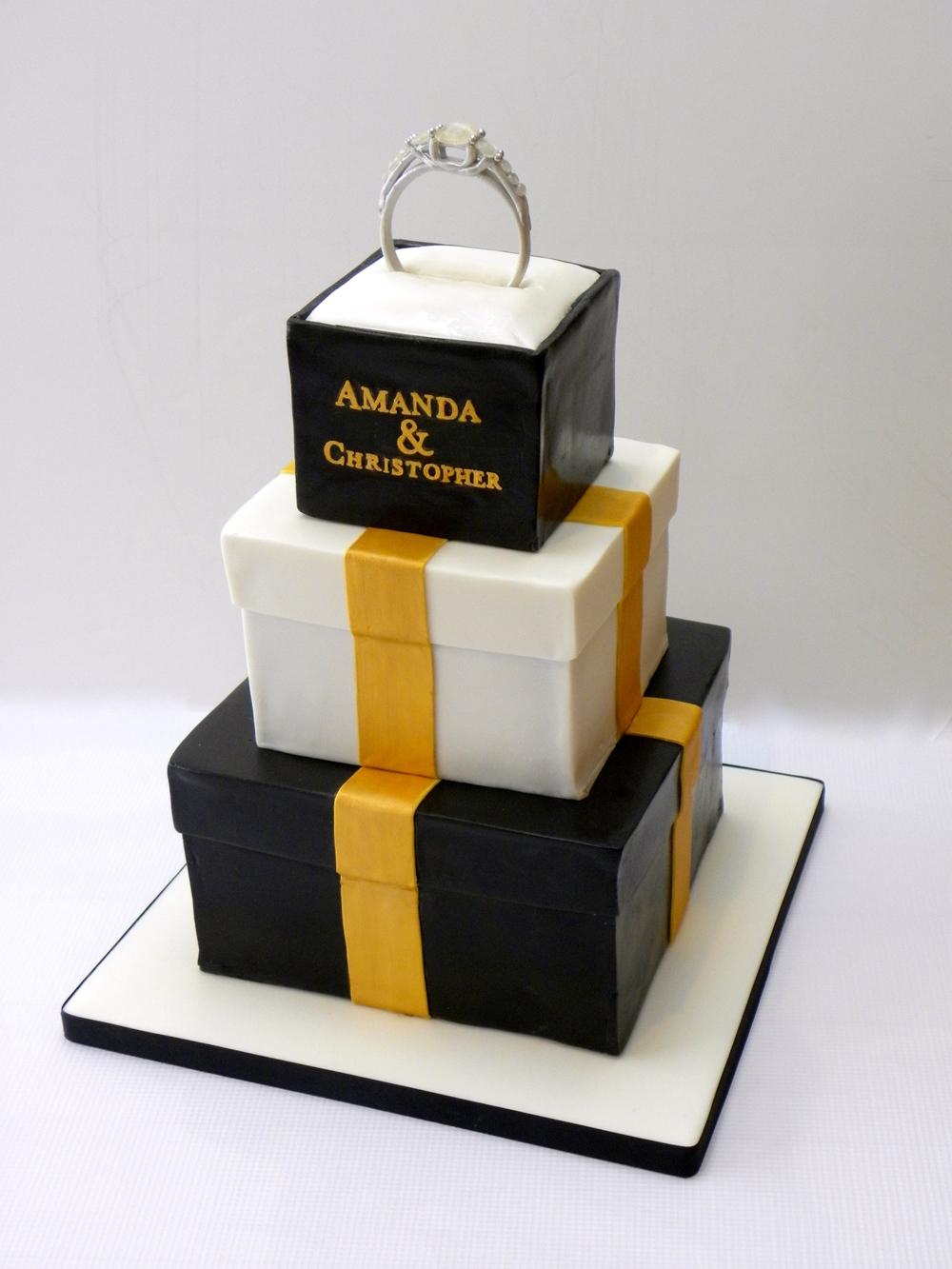 Engagement Ring Cake