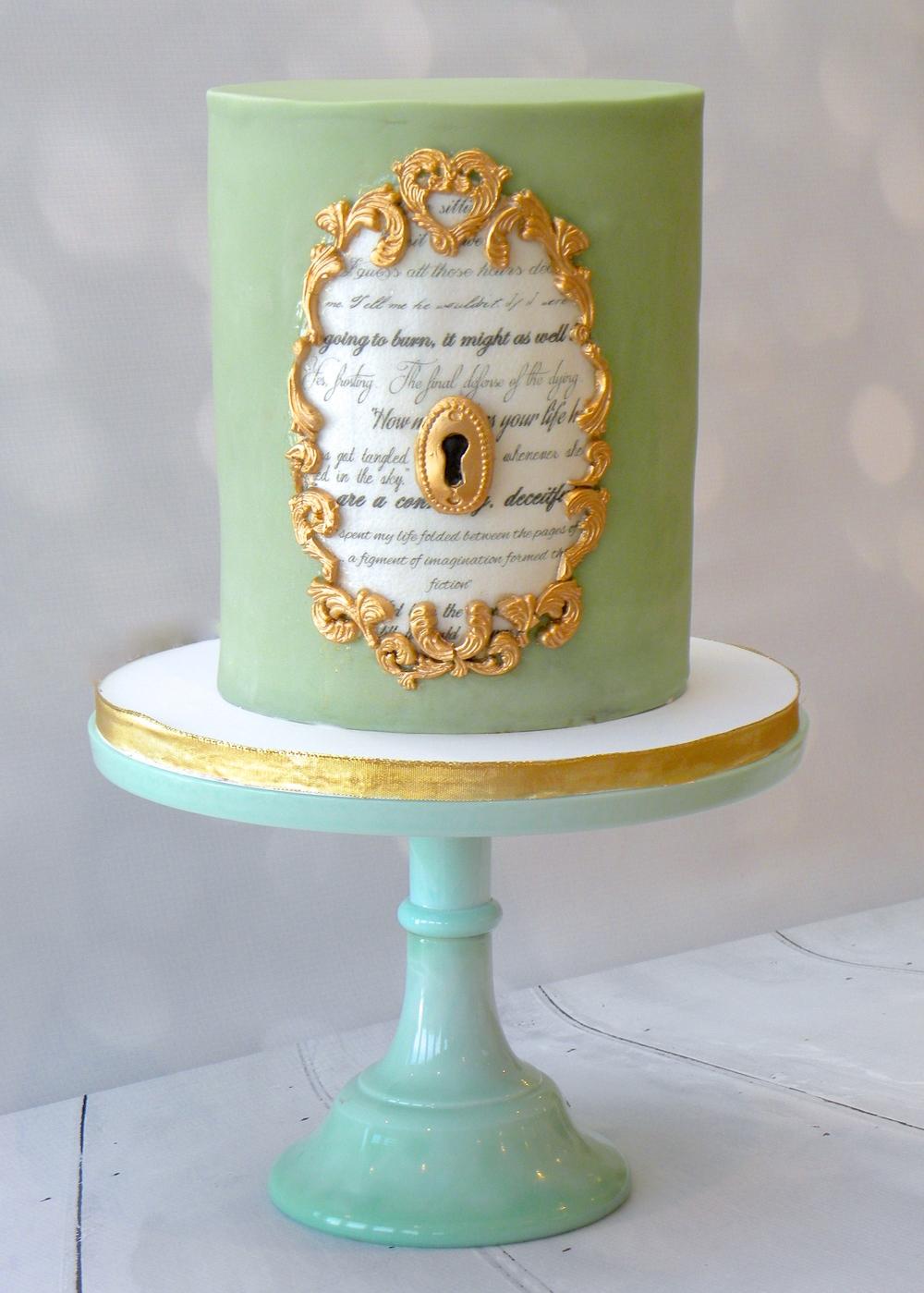 Vintage French Ormolu Cake