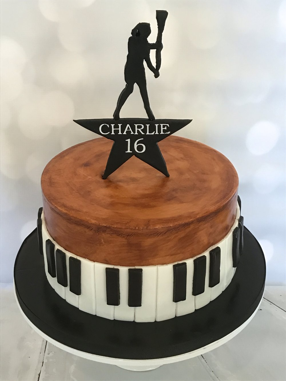 """Hamilton""-themed 16th Birthday Cake"