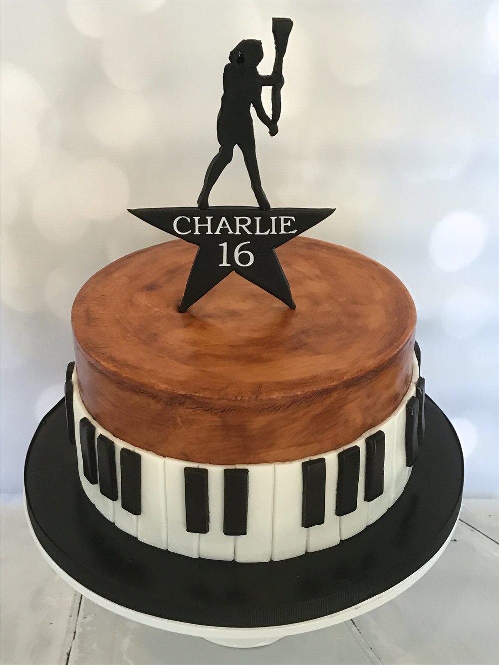 """""""Hamilton""""-themed 16th Birthday Cake"""