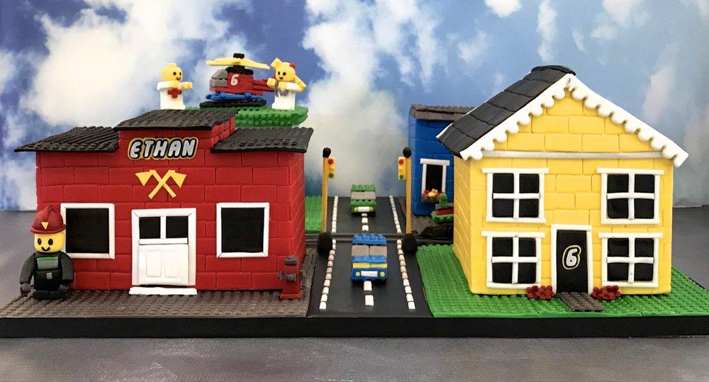 Lego Town Cake