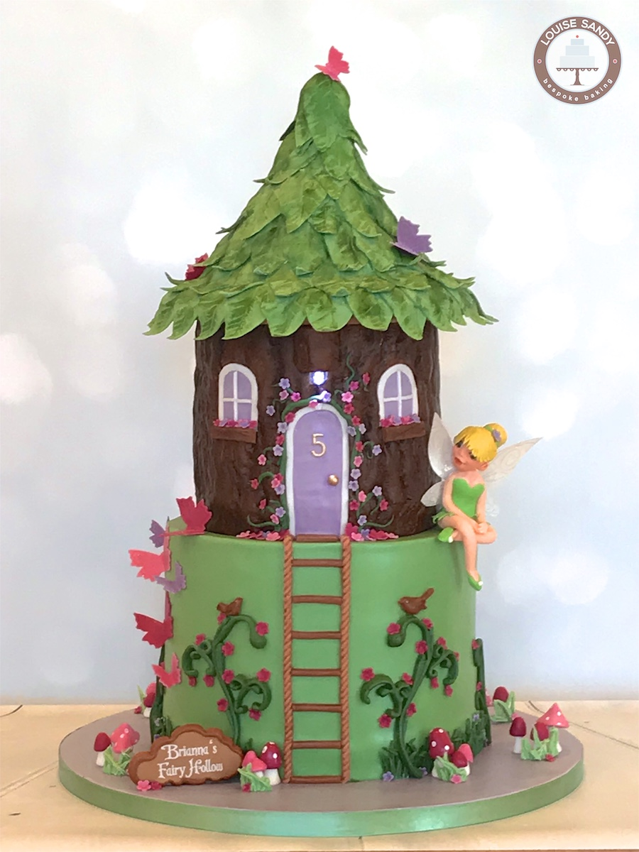 Tinkerbell's Tree House Cake