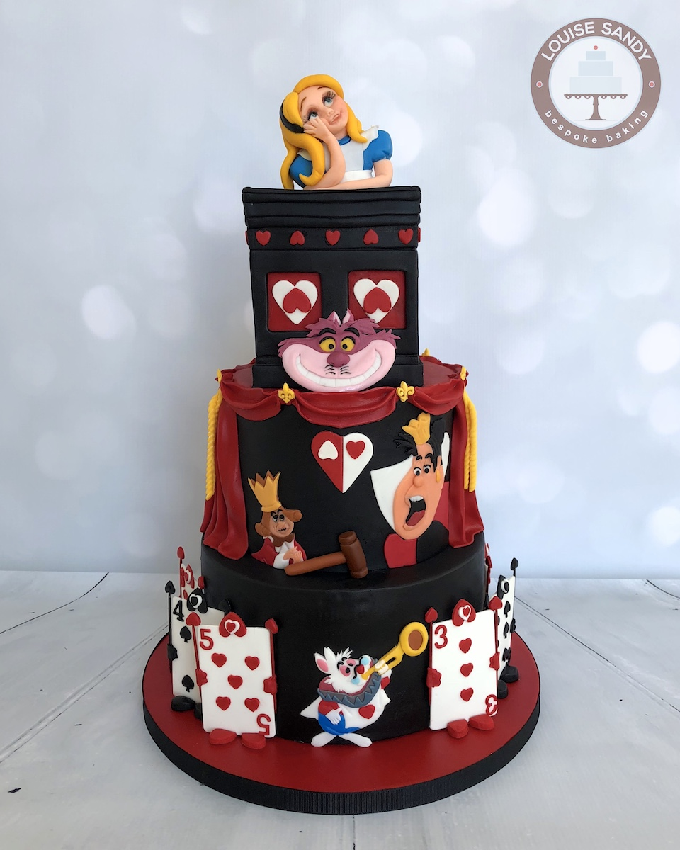 Alice in Wonderland Trial-Scene Cake