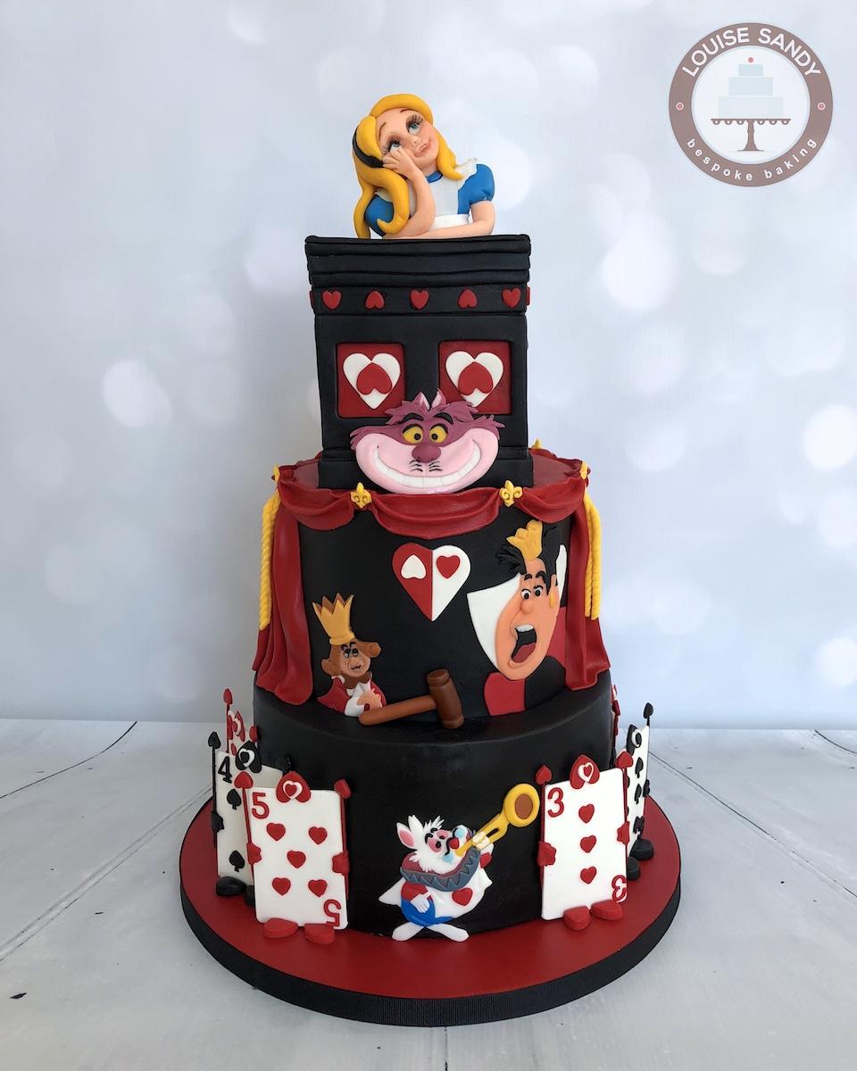 Alice in Wonderland Trial-Scene Cake