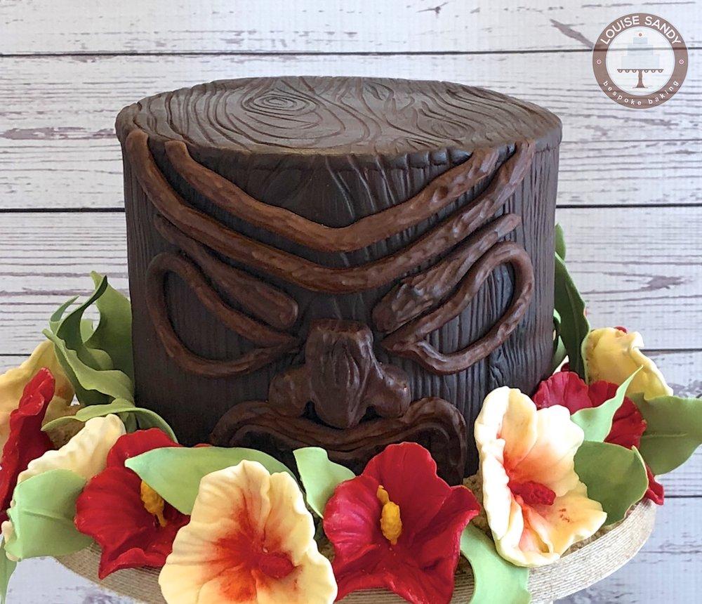 Tiki Head Cake