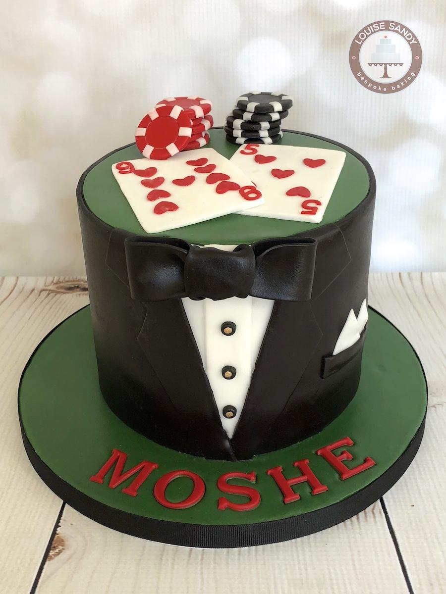 Tuxedo-Poker Cake