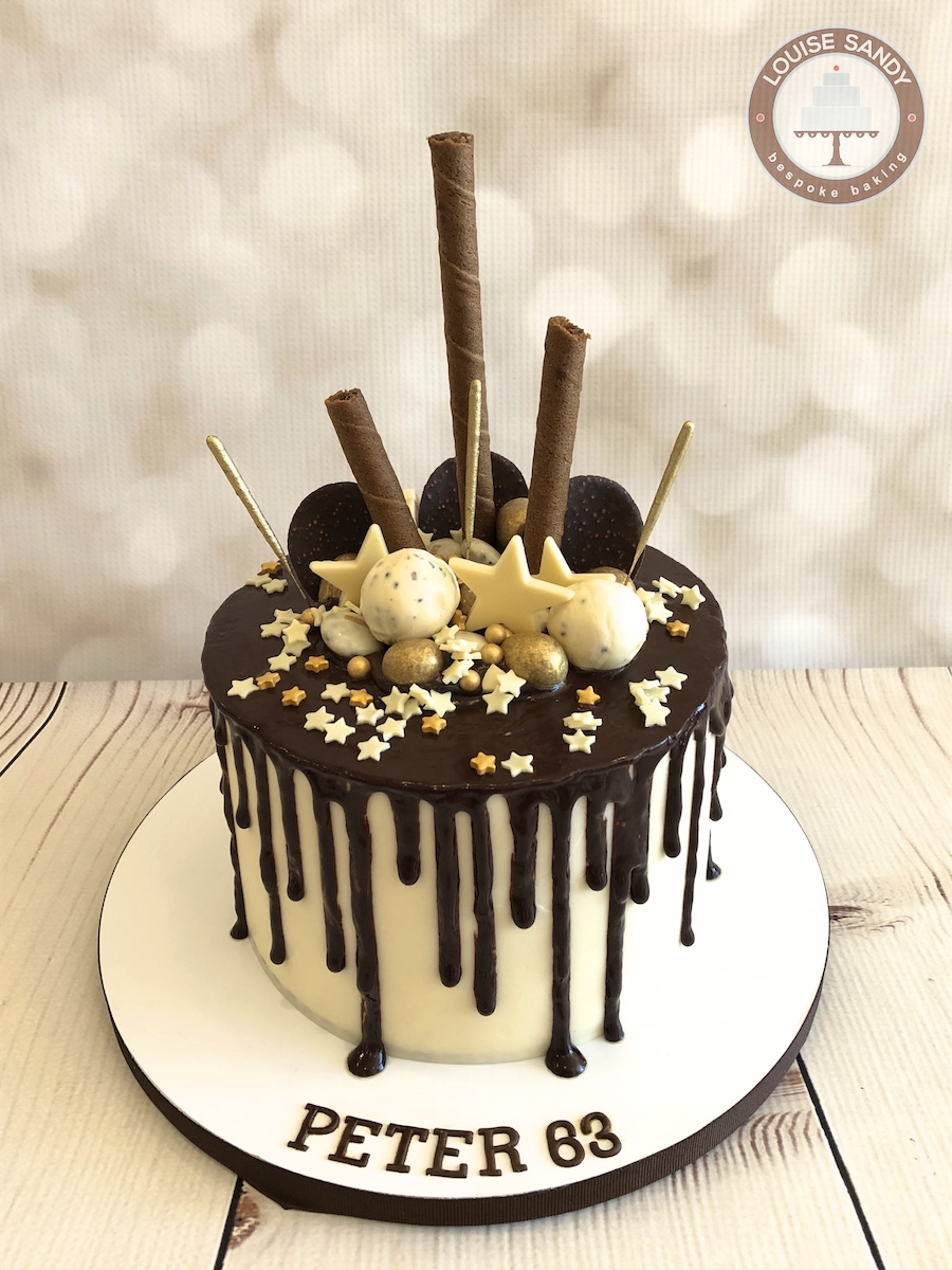 Chocolate and Vanilla Drip Cake