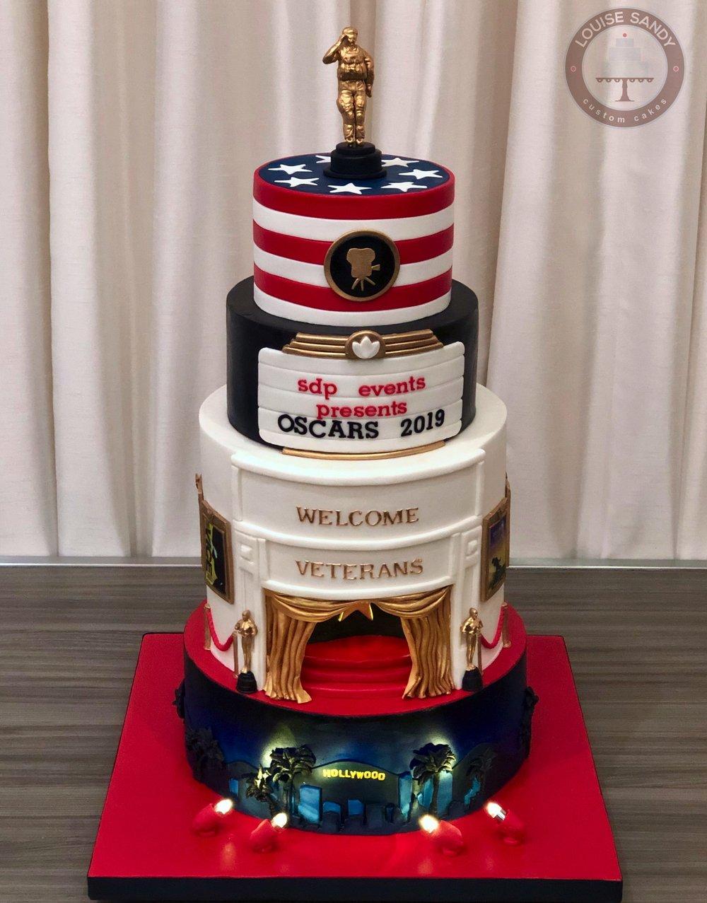 Oscars Cake for Veterans Benefit Gala