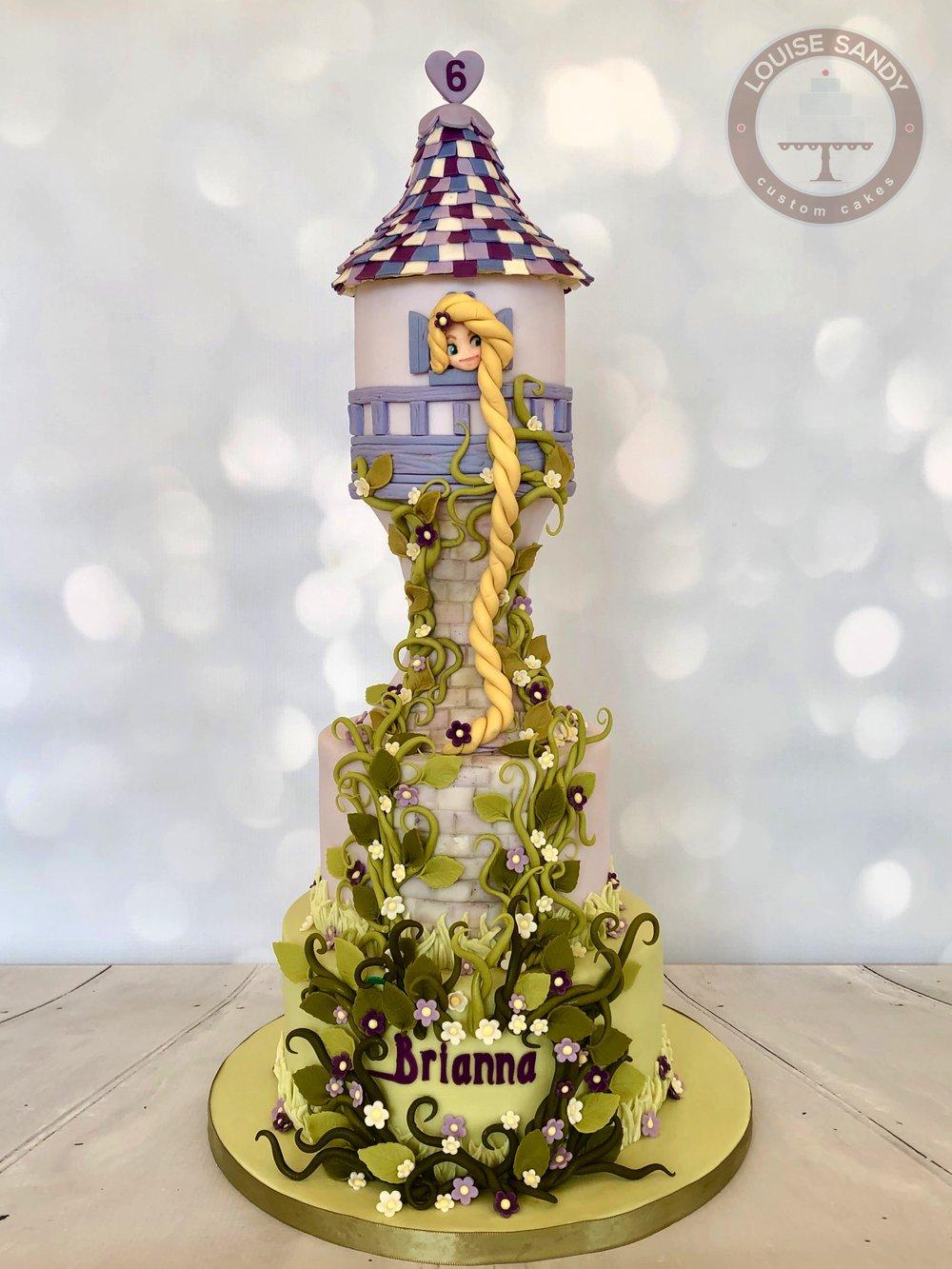 """Tangled"" Rapunzel Tower Cake"
