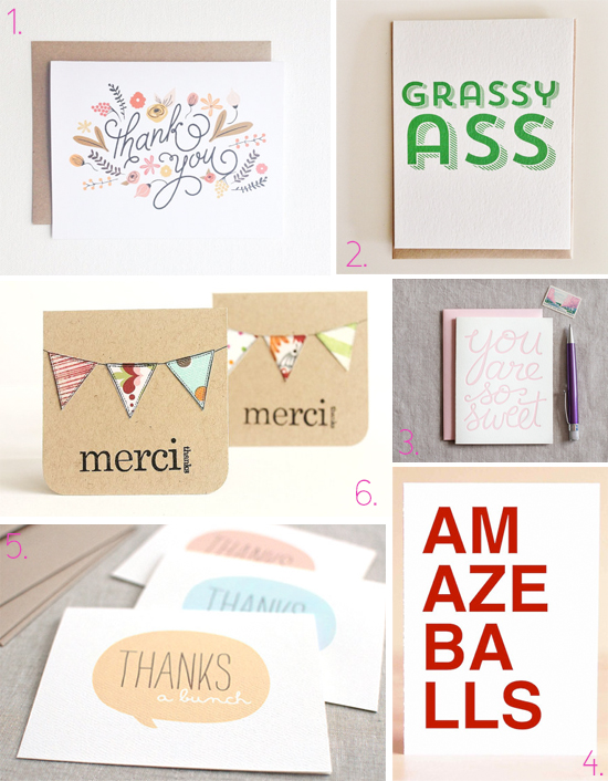 Smattering of awesome thank you cards