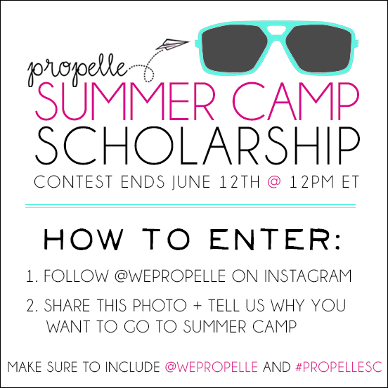 Propelle Summer Camp Scholarship Contest on Instagram
