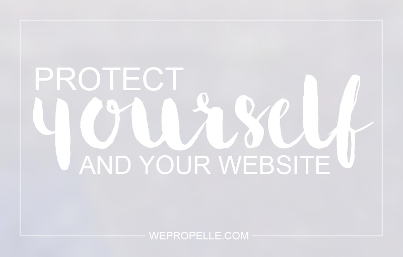 Protect yourself and your website.