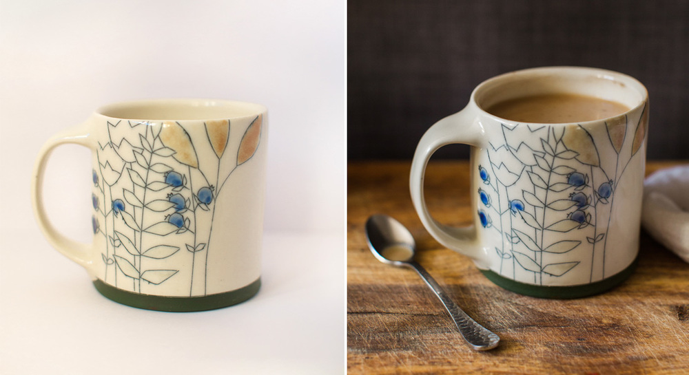 (mugs by Jenna Vanden Brink Ceramics)
