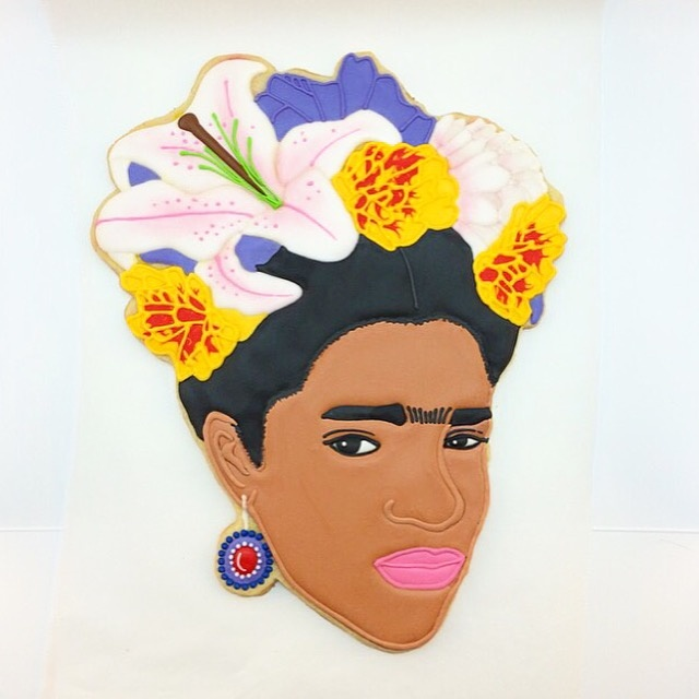 Frida Kahlo cookie by Yummyholic