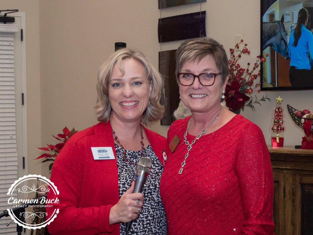 These ladies were key to this successful event! Virginia Larson with Family Eldercare and Cindy Pelan with Legacy at Georgetown
