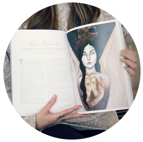 BEAUTIFUL BIZARRE ART MAGAZINE INTERVIEW & SPREAD