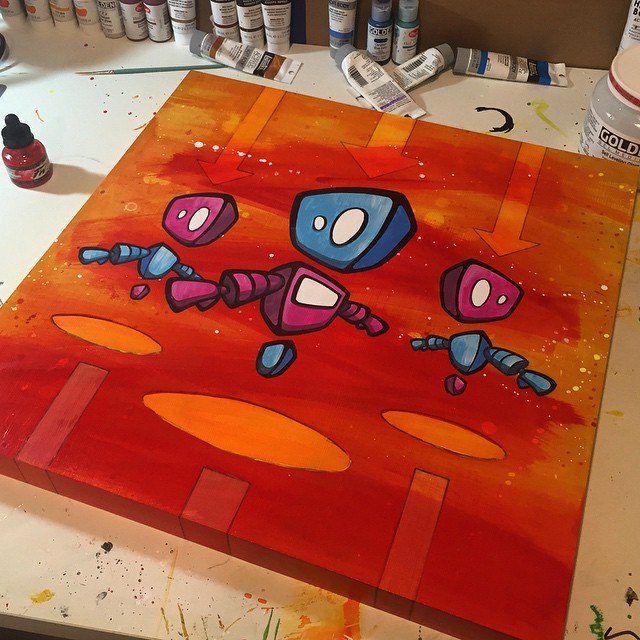 """BEAM ME UP"" All done and ready to be auctioned off this Friday evening (7/26) at the #ArtAndSoul #charity #auction at Pepco Edison Place Gallery in DC! nccf-cares.org for more info & tickets"