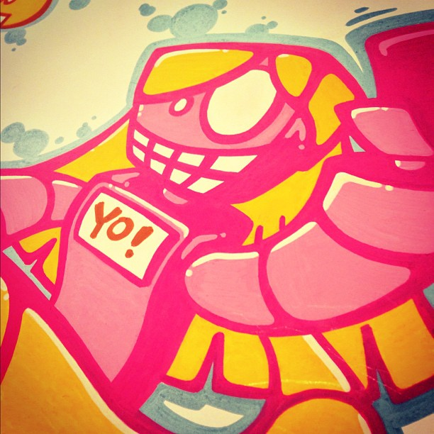Working on a new project. Lots more where this came from! #memebots #robot #art #estrobot #yobot