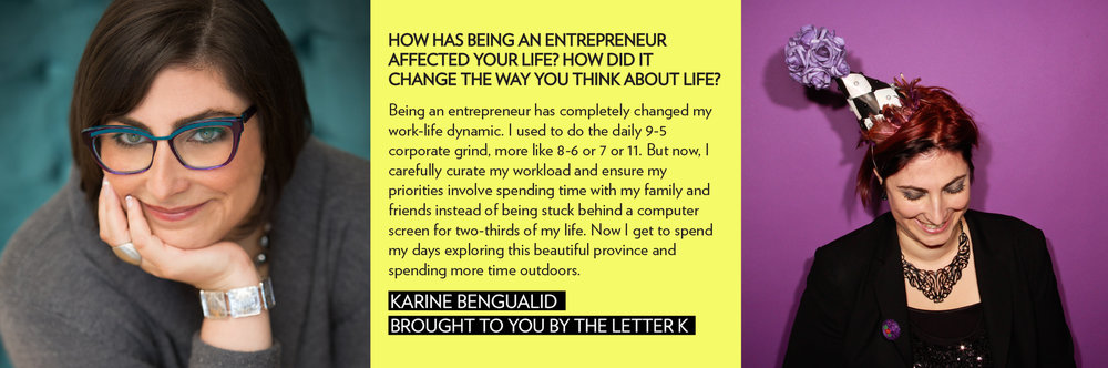 business entrepreneur karine bengualid brought to you by the letter k werule we rule