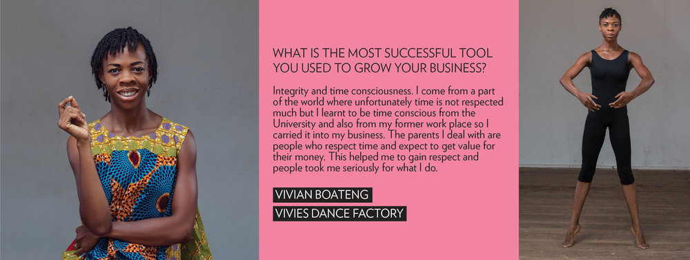vivian boateng dancer entrepreneur ghana