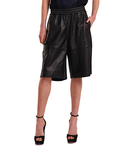 """Tailored, wide-leg shorts, reimagined in leather with a slouchy fit."""