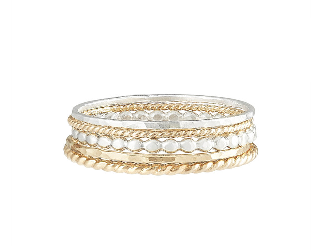 Mixed Ring Stack:  The lazy girl's guide to a ring stack that is pre-made, mixed metals and perfect for any occasion. They come pre-made in a size.
