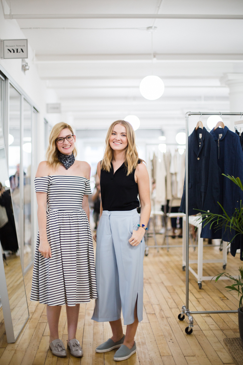 Courtney Denton, PR and Marketing coordinator at Club Monaco and Carly Quaggan, PR and Marketing intern at Club Monaco