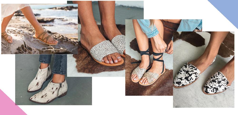 L to R: Urge Footwear's Samsara, Frankie, Xero II, Roxy and Lola
