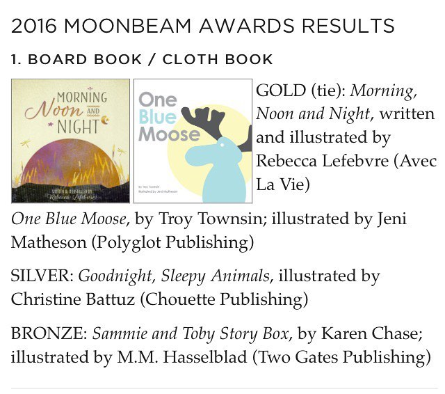 Two Gates Publishing LLC just received the most AMAZING news today!!! The Sammie and Toby Story Box received the bronze medal Moonbeam Award for children's board books!!! This is a HUGE honor to say the least. There were 1400 submissions from all over the world and 165 medalists. And our book is one of them!!! Congratulations to our author Karen Chase and illustrator Mercy Hasselblad on this incredible recognition!!! Go get your copy today! @kkimbrochase  @akeilbarth