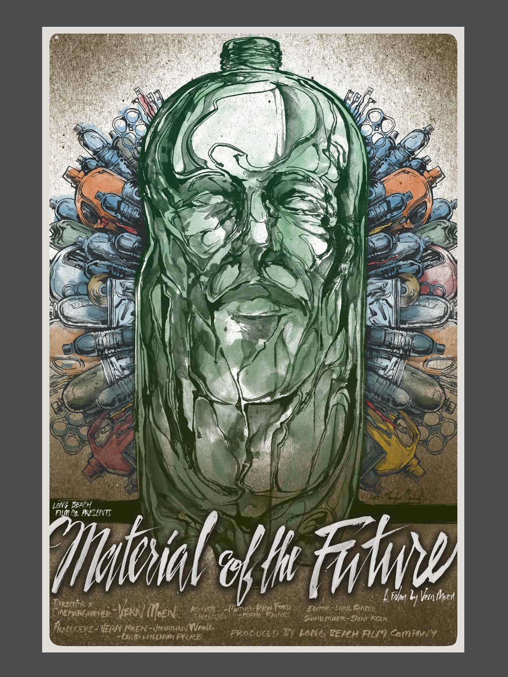Official movie poster for Material Of The Future. Designed by Taylor Springle.