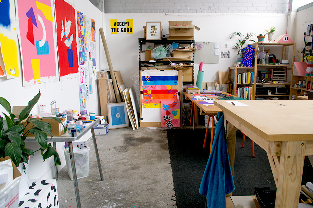 Spencer's studio is at the end of a small number of shared spaces. Photo by Susan Fitzgerald.