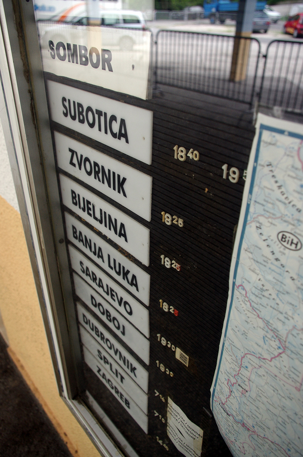 All the main stops on a bus trip from Montenegro through to Croatia