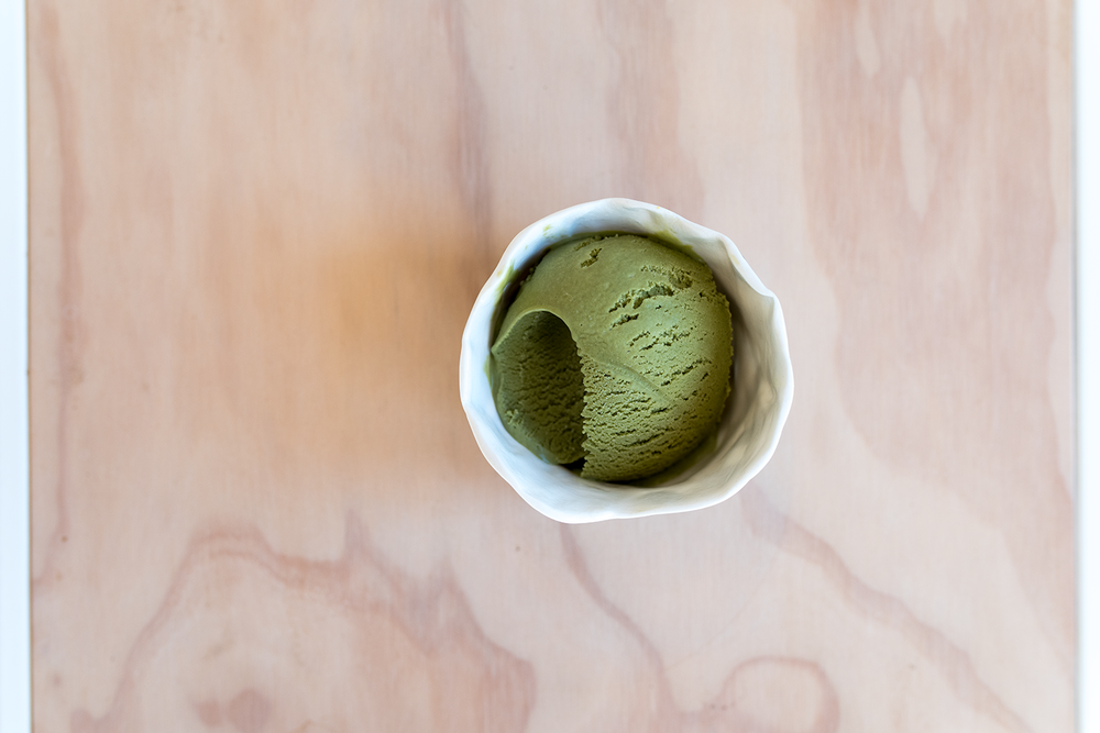 It might be winter but that doesn't stop me making  matcha ice-cream .  Photo by Susan Fitzgerald.