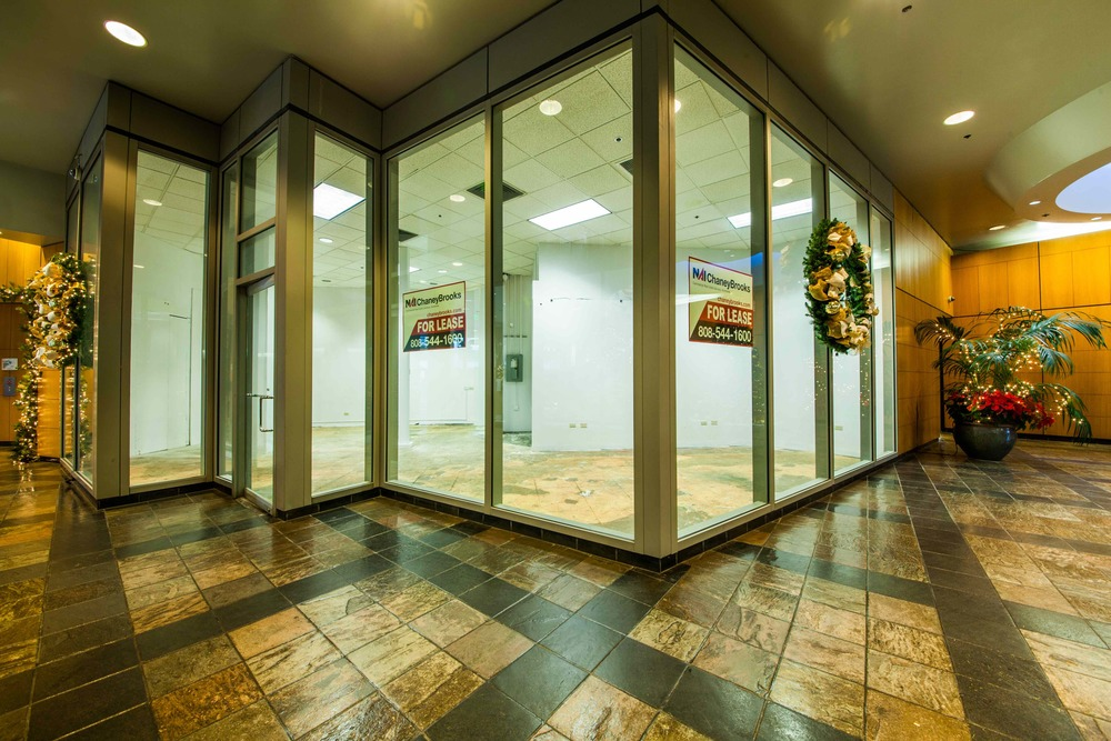 Rare opportunity for a ground floor retail space in Waikiki! High visibility location directly across from the first Longs Drugs store in Waikiki and right next to the main lobby elevators. Major pedestrian thoroughfare. Ready to occupy!