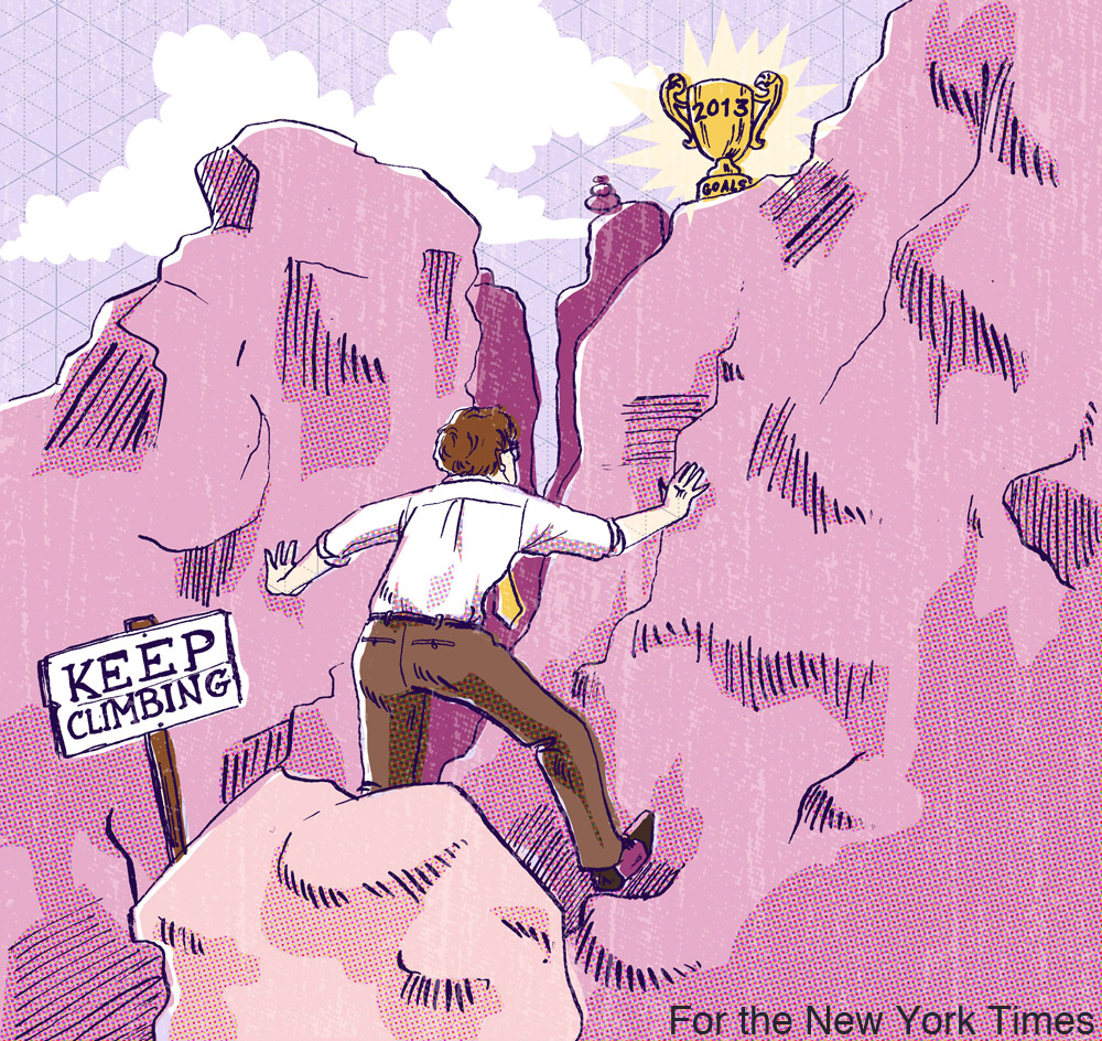 January 13, 2013. Art Director: Minh Uong Article:  To Keep Your Office Resolutions, Start Small