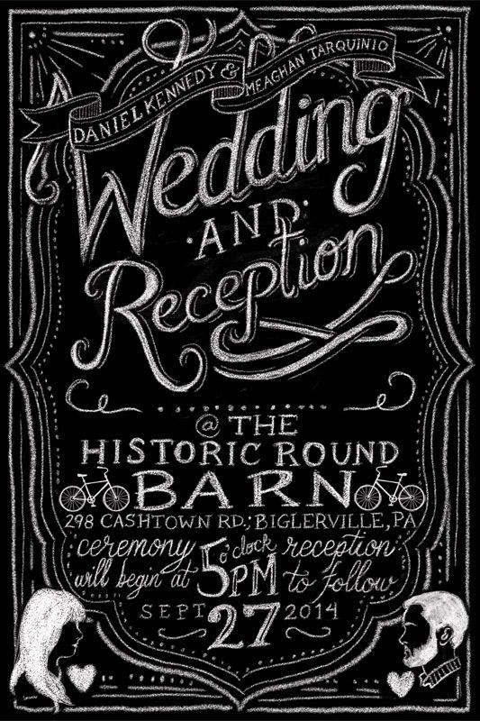 Tarquinio+Kennedy Wedding Invite