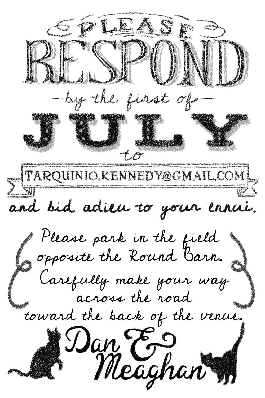 Tarquinio+Kennedy Wedding Invite (Back)