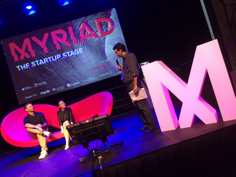 Speaking on a panel with David Ryan, from Corilla and Chris Titley as the moderator at Myriad