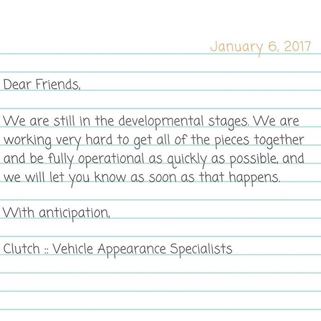We truly appreciate all of your support, encouragement and positivity during our development! Thank you, from all of us at the Clutch :: Vehicle Appearance Specialists, LLC team!  #growingbusiness #growth #smallbiz #smallbusiness #smallbusinessowner #swam #familybuisness #detailersofig #detailersofinstagram #detail #detailing #polishcar #clutch #clutchdetail #vehicleappearancespecialist #customerservice #newbusiness #comingsoon