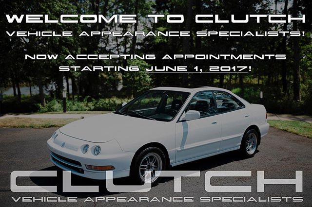 Announcing our Grand Opening on June 1, 2017! With a special introductory offer! Follow the link for more details. http://clutchdetail.com/blog/2017/5/22/announcement #detailersofig #detailingdoneright #detailersofinstagram #detailingboost #dmv #familybuisness #swam #detail #clutchdetail #clutch #customerservice #mobiledetailing #paintcorrection #ceramiccoating #wax #smallbiz #smallbusiness #nova #md #dc #maryland #virginia