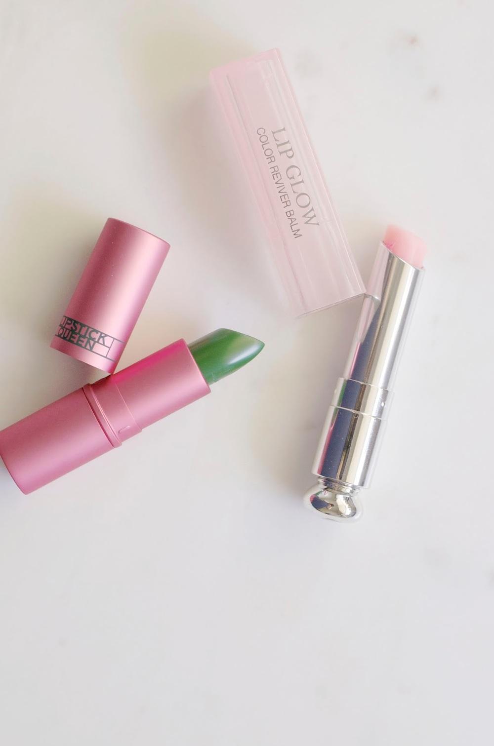 Lipstick Queen, Lipstick Queen Frog Prince, Dior, Dior Lip Glow