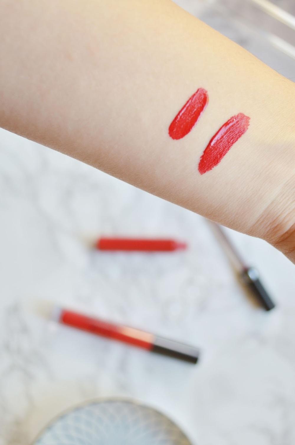 Red Liquid Lipsticks, Stila Stay All Day Liquid Lipstick Beso, Stila Beso, Sephora Always Red, Sephora Lip Cream
