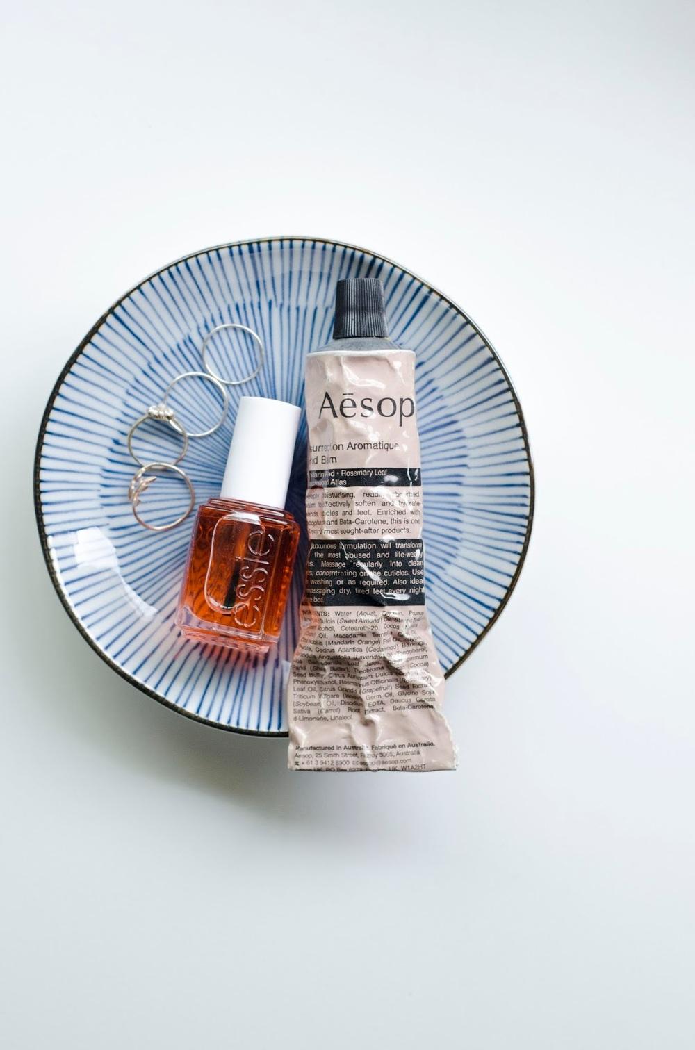 Essie Apricot Oil, Aesop, Aesop Resurrection Balm