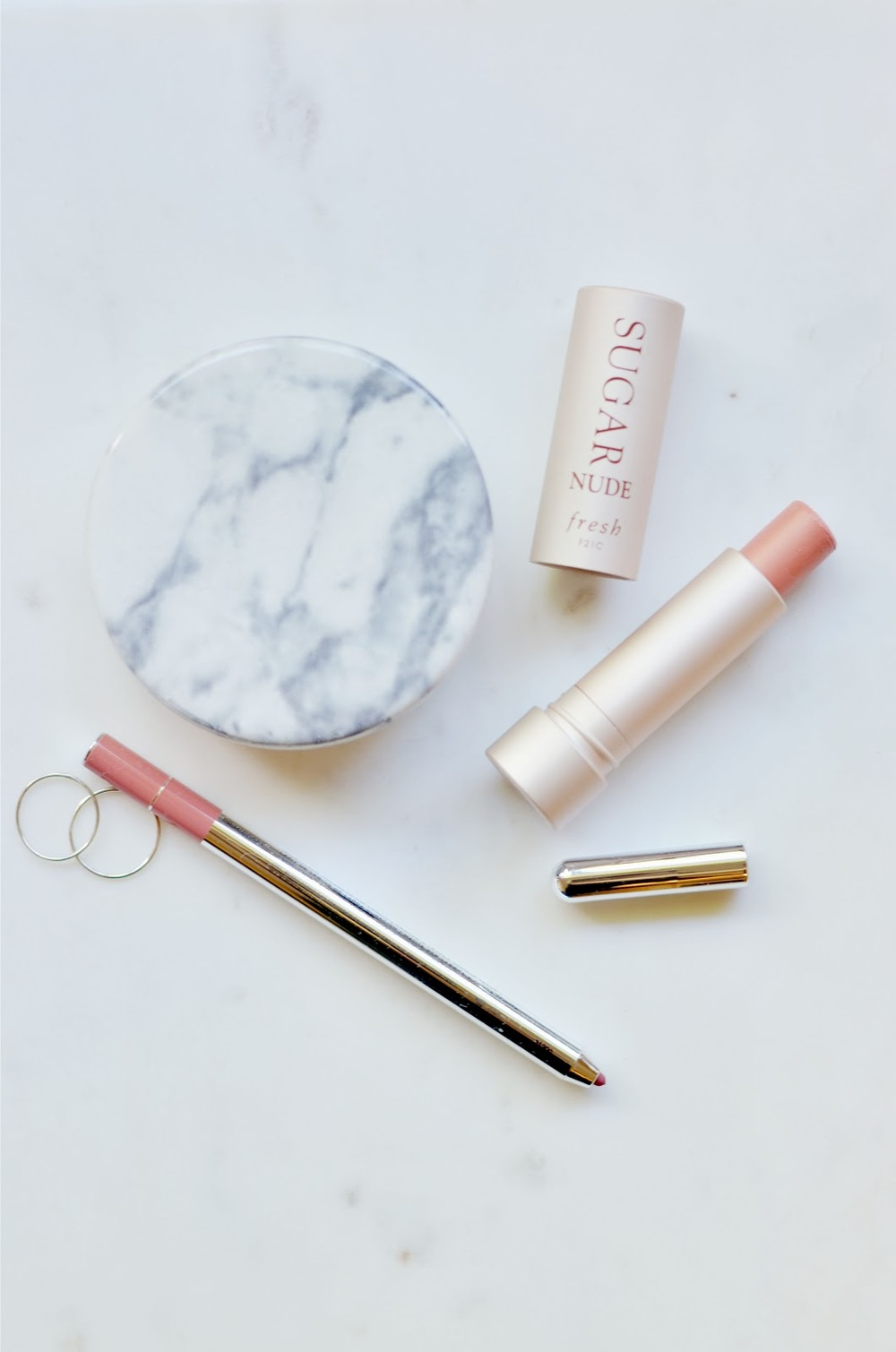 Fresh Sugar Lip Treatment, Fresh Nude, Marc Jacobs Prim(Rose), Marc Jacobs Primrose