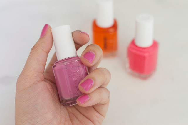 Essie, Essie Nail Polish, Essie Apricot Oil, Essie Splash of Grenadine, Essie Cute as a Button